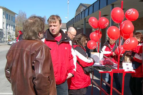 Socialdemokraterna i Gnosjö vid mingeldagen 2010-04-24